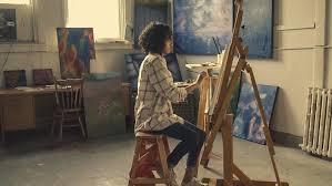 painter at an easel